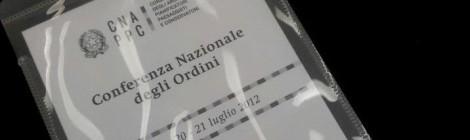 CONFERENZA NAZIONALE DEGLI ORDINI, ROMA
